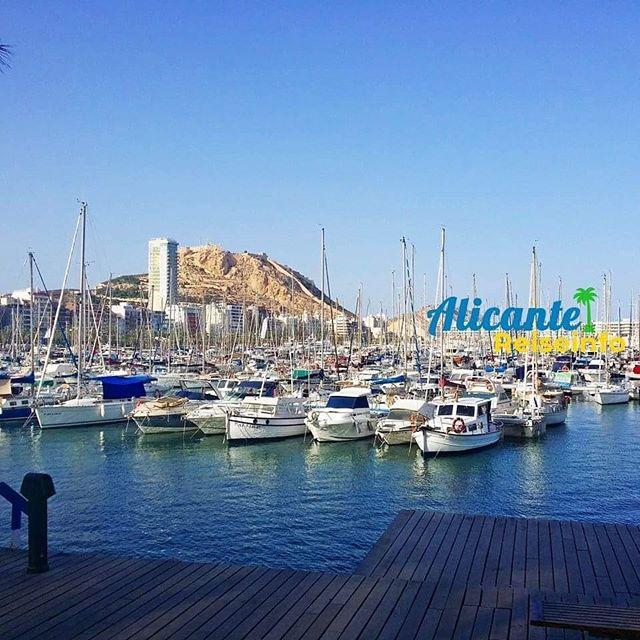 Hafen von Alicante mit Blick auf die Burg #alicante #bergundmeer #hafen #segelschiffe #mehrmeer #igersalicante #spanienurlaub #costablanca
